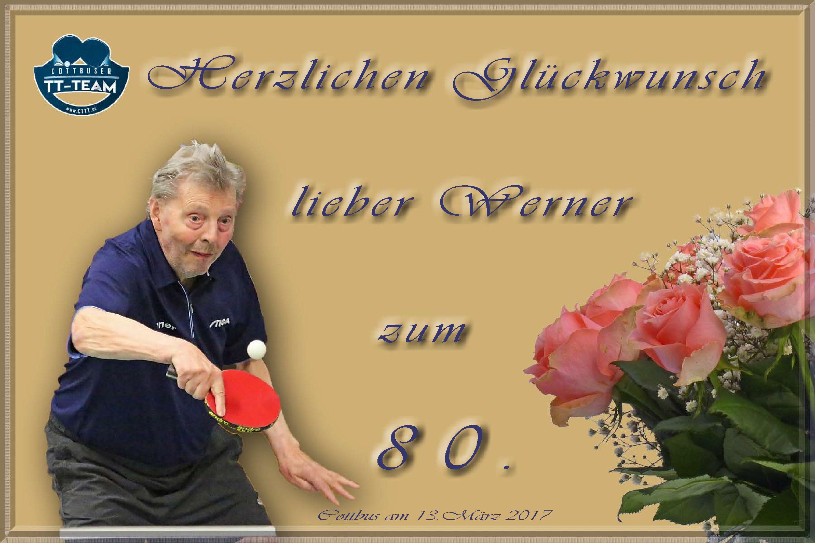 Herzlichen Glückwunsch Werner!