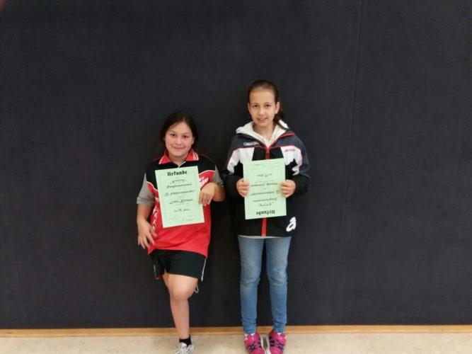 Tolle Ergebnisse bei der überregionalen Norddeutschen Schülerinnen B-Rangliste für Jolie und Mandy